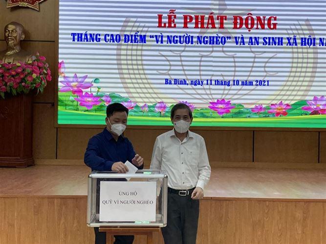 """Hơn 2,1 tỷ đồng ủng hộ quỹ """"Vì người nghèo"""" quận Ba Đình năm 2021"""