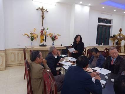 """Ủy ban Đoàn kết Công giáo Thành phố Hà Nội kiểm tra Mô hình """"Giáo họ tự quản về an ninh trật tự"""" của các thôn Công giáo toàn tòng trên địa bàn huyện Mê Linh."""