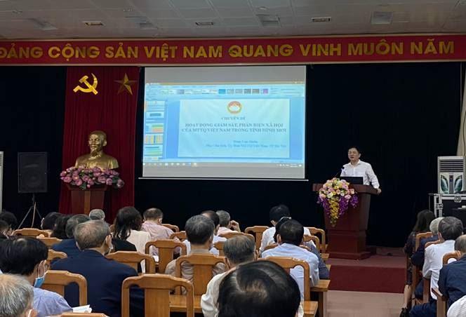 MTTQ Việt Nam quận Cầu Giấy tập huấn bồi dưỡng kỹ năng nghiệp vụ công tác Mặt trận năm 2021