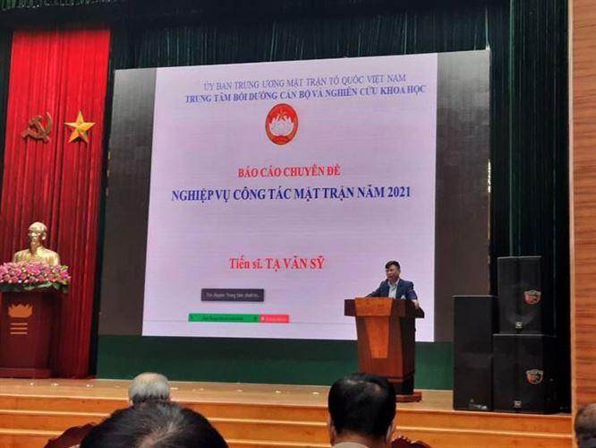 Lớp bồi dưỡng nghiệp vụ cán bộ Mặt trận Tổ quốc Việt Nam quận Bắc Từ Liêm 2021