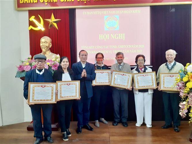 Ủy ban MTTQ Việt Nam quận Hoàn Kiếm tổ chức hội nghị  tổng kết công tác TTND - GSĐTCCĐ năm 2020