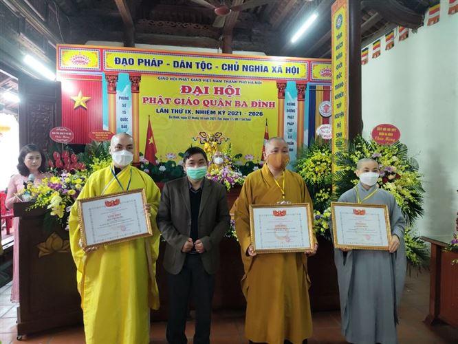 Đại hội Phật giáo quận Ba Đình lần thứ IX (nhiệm kỳ 2021-2026).