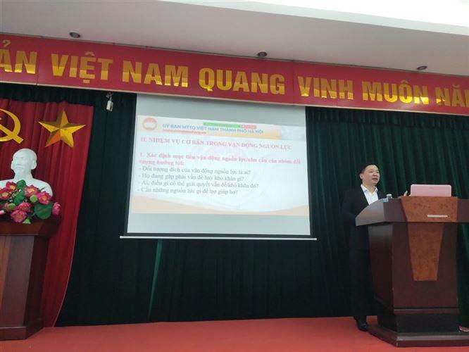Ủy ban MTTQ Việt Nam quận Ba Đình tổ chức lớp tập huấn nghiệp vụ công tác Mặt trận năm 2021