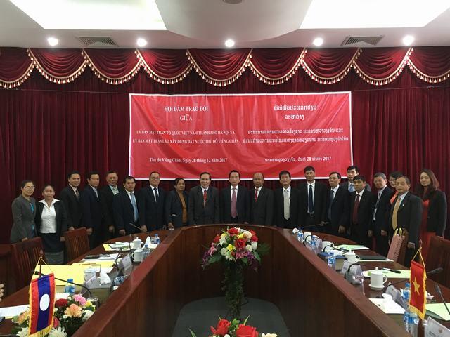 Đoàn công tác của Ủy ban MTTQ Việt Nam thành phố Hà Nội