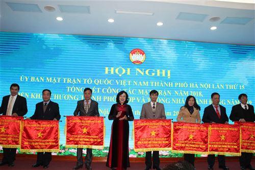 Ủy ban MTTQ Việt Nam TP Hà Nội tổ chức hội nghị lần thứ XV tổng kết công tác mặt trận năm 2018, triển khai chương trình phối hợp và thống nhất hành động năm 2019
