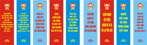 Baner Đại hội đại biểu MTTQ Việt Nam thành phố lần thứ XVII, nhiệm kỳ 2019 -2024