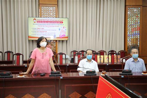 Chủ tịch Hội người khuyết tật Thành phố Dương Thị Vân phát biểu