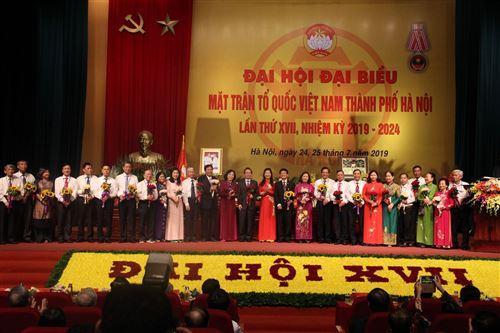 Chia tay các vị thôi không tham gia Ủy viên Ủy ban MTTQ Việt Nam TP khóa XVI, nhiệm kỳ 2014-2019