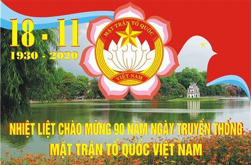 Tranh cổ động kỷ niệm 90 năm Ngày truyền thống MTTQ Việt Nam
