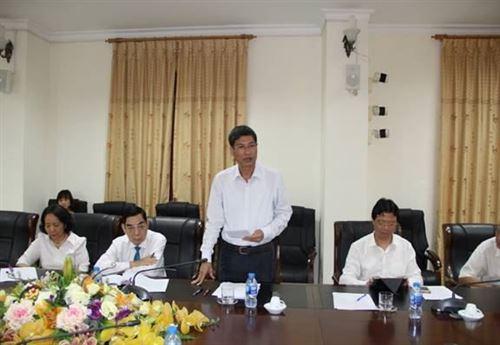 Đồng chí Nguyễn Anh Tuấn – Phó Chủ tịch Ủy ban MTTQ Việt Nam TP phát biểu tại buổi khảo sát về công tác nắm bắt DLXH tại Thanh Oai