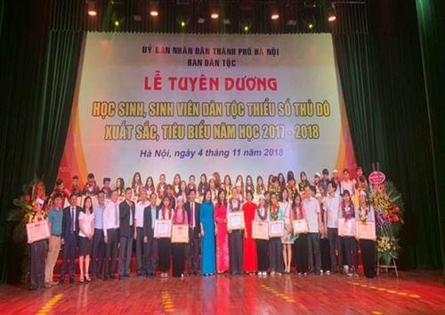 Lễ tuyên dương học sinh, sinh viên dân tộc thiểu số Thủ đô xuất sắc, tiêu biểu năm 2017 – 2018