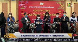 Ủy ban MTTQ TP Hà Nội trao quà Tết Xuân chia sẻ - Tết yêu thương
