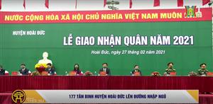 Chủ tịch Uỷ ban MTTQ TP Hà Nội động viên tân binh huyện Hoài Đức lên đường nhập ngũ