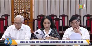 Báo cáo chính trị Đại Hội MTTQ Việt Nam TP Hà Nội