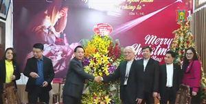 Đoàn công tác UBMT TP Hà Nội thăm chúc mừng tòa giám mục giáo phận Bắc Ninh